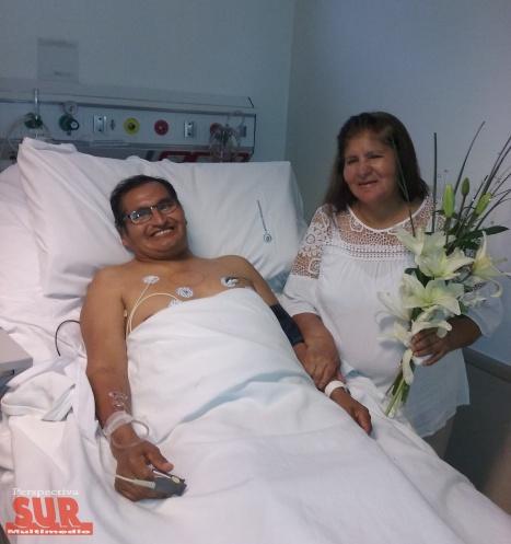 Se casó y trasplantó su corazón en el Hospital El Cruce