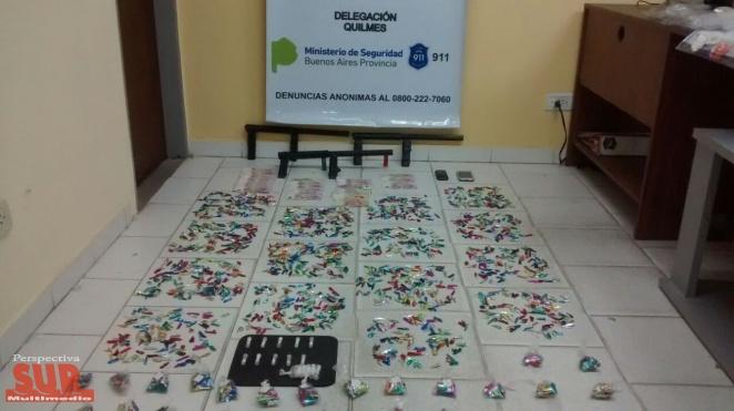 8 Detenidos y más de 4 mil dosis de paco secuestradas en Varela y Claypole