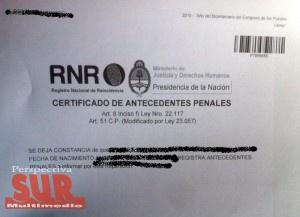 El certificado de antecedentes penales se podrá obtener on line