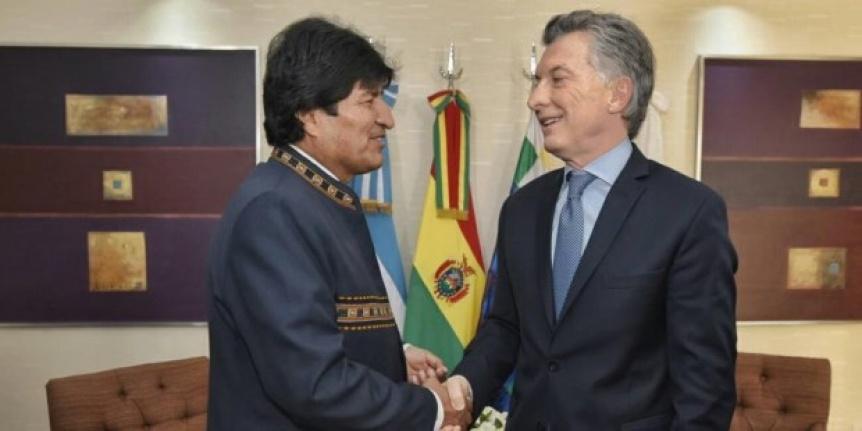 Macri recibe a Evo Morales con una agenda que incluye gas y Venezuela