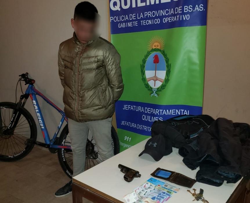 Delincuente armado fue detenido tras asalto y fuga a Monte Matadero