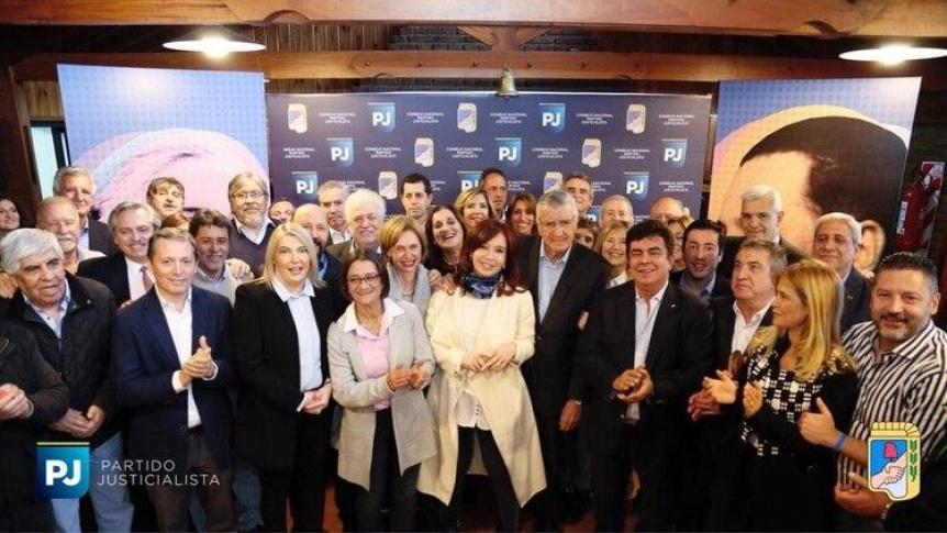 Cristina Kirchner, presente en la cumbre del Partido Justicialista