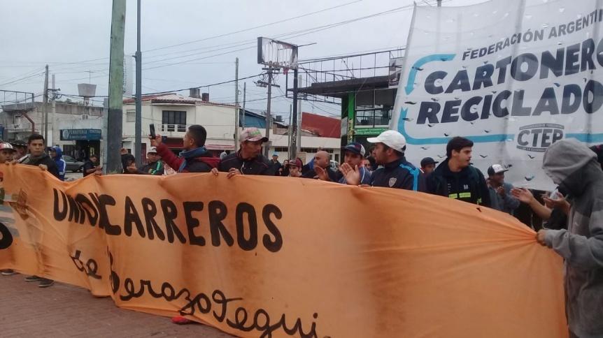 La Justicia hizo lugar al reclamo de los recolectores y recicladores urbanos de Berazategui