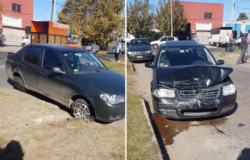 Violento choque en Av. Triunvirato casi termina con un auto volcado