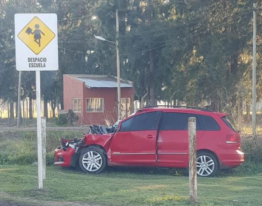 Accidentes constantes por un sem�foro en medio de la Ruta 53