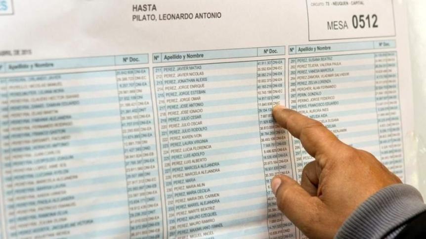 Hay plazo hasta el mi�rcoles para hacer reclamos sobre padr�n electoral