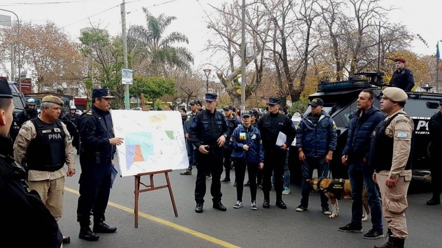 Mega operativo policial con Fuerzas Federales en Quilmes