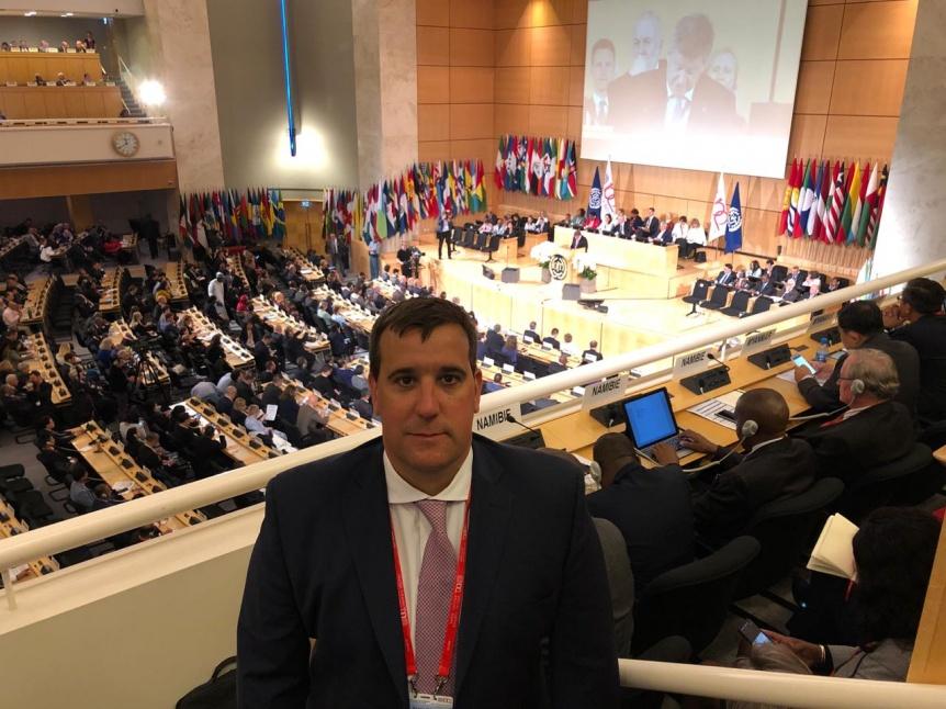 El diputado S�nchez Sterli participa de la Conferencia Internacional del Trabajo