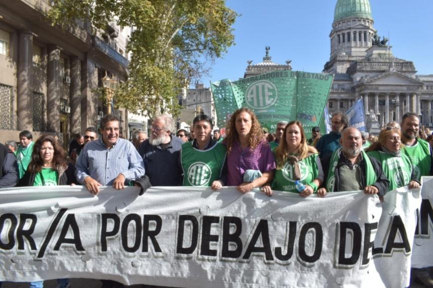 ATE reclamó en La Plata la reapertura de la paritaria