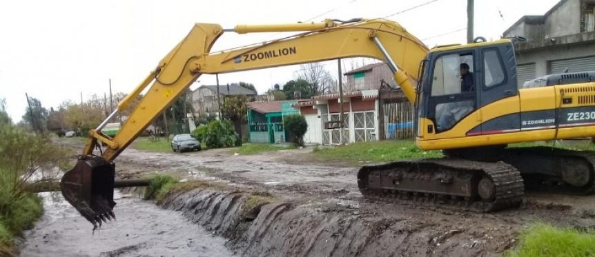 El Municipio de Florencio Varela realiza trabajos por el temporal