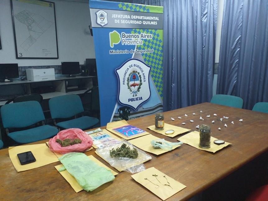 Detienen a un joven por comercializar marihuana en Bernal