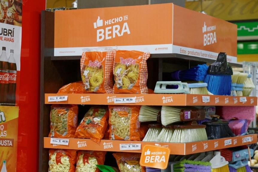 Berazategui: Productos locales en góndolas diferenciadas