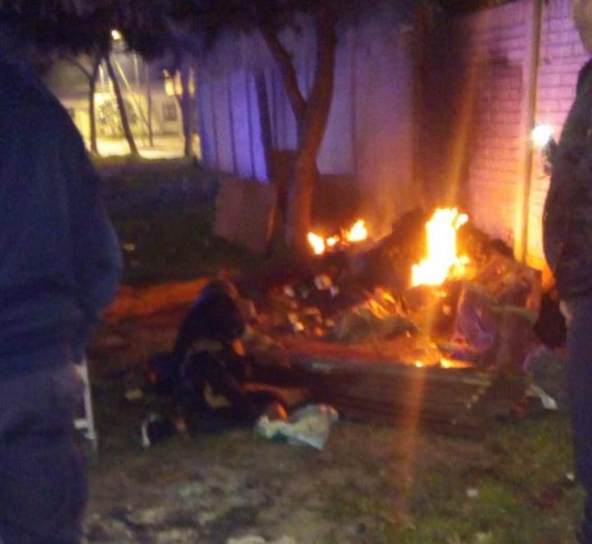 Un indigente gravemente quemado al prenderse fuego el colch�n donde dorm�a
