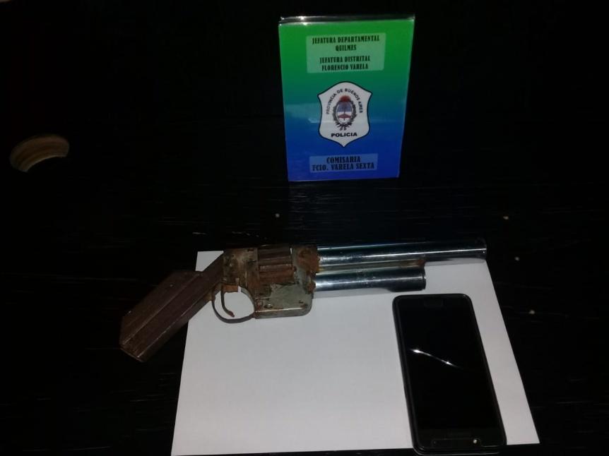 Atraparon a delincuente por asalto con arma tumbera