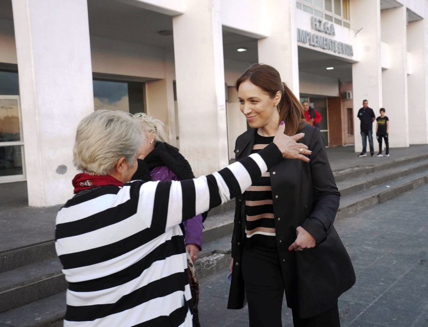 Vidal visitó el Hospital Simplemente Evita de La Matanza