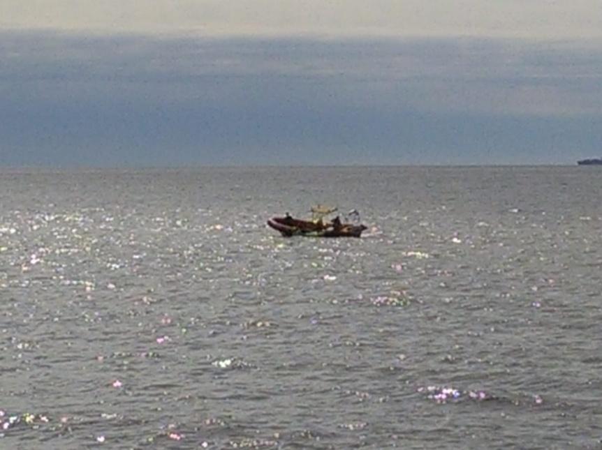 Rescataron a kayakista en la Ribera de Quilmes