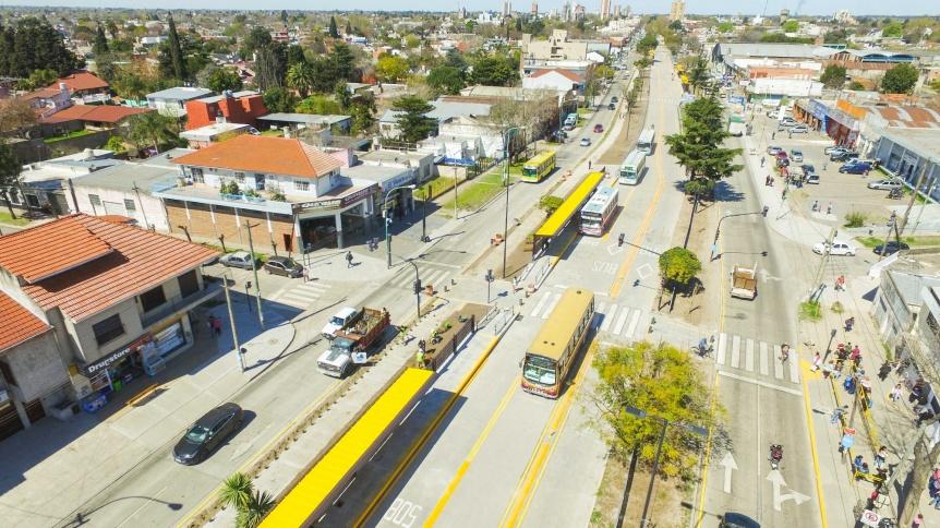 Realizaron las pruebas de colectivos en el Metrobus  de Florencio Varela