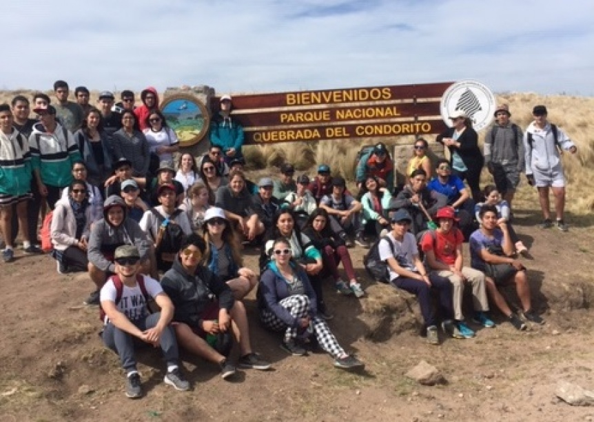Campamento Educativo de alumnos del Chaparral en la quebrada del Condorito