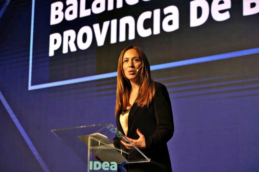 María Eugenia Vidal estuvo presente en la inauguración del Coloquio de IDEA
