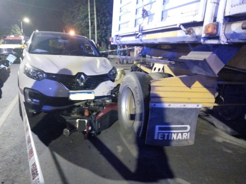 Choque cu�druple en Quilmes Oeste dej� un herido