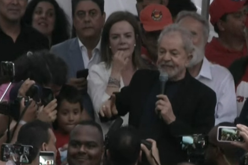 El ex presidente Lula da Silva quedó  libre