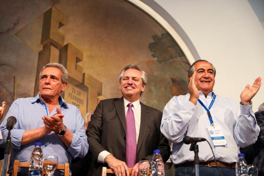Alberto Fernández, en la CGT: