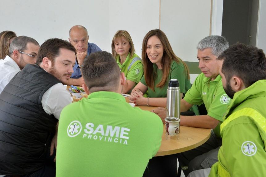 Vidal y Grindetti recorrieron las obras del nuevo Centro de Salud en Gerli