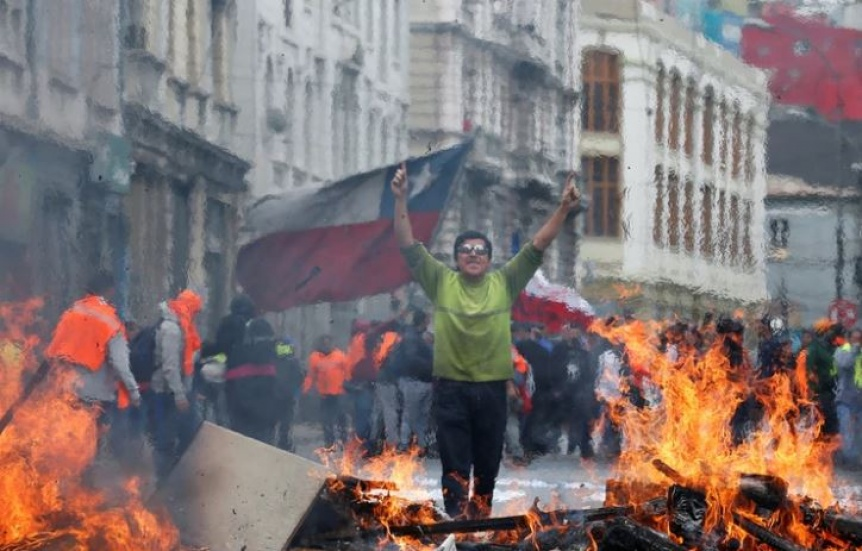 Chile en crisis: Huelga general en protesta contra el gobierno de Sebasti�n Pi�era
