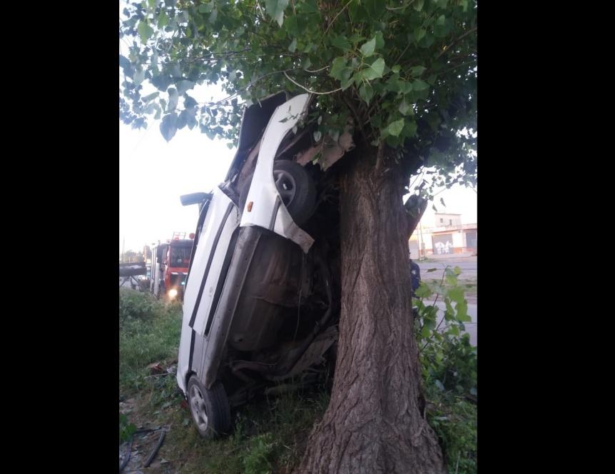 Un hombre murió al chocar de frente contra un árbol