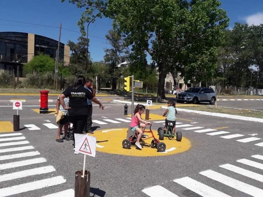 Jornada de educación vial para grandes y chicos en la Ribera de Quilmes