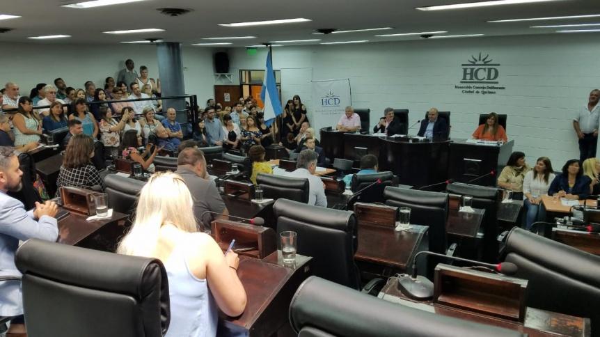 Despidieron a los concejales quilmeños que concluyeron sus mandatos