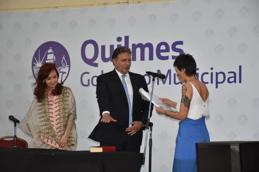 Los funcionarios que acompa�ar�n en Quilmes a Mendoza