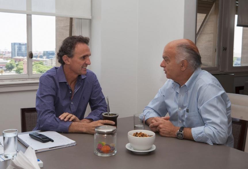 Grindetti convers� con Katopodis sobre obras p�blicas a nivel local y regional