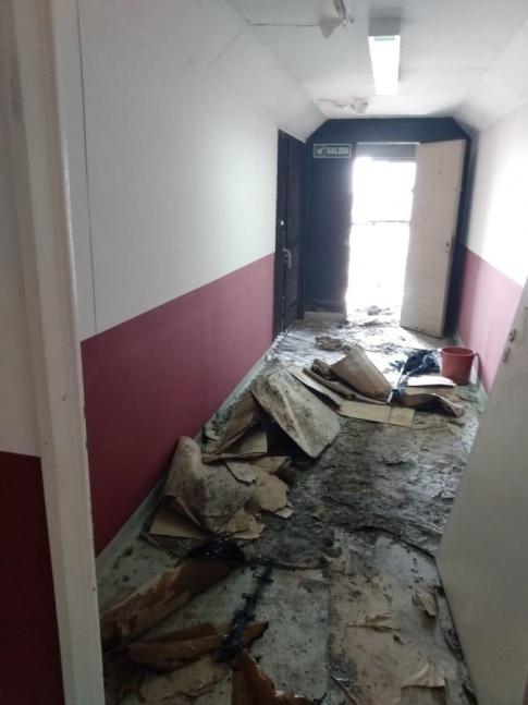 Detuvieron al autor del incendio en las oficinas de la municipalidad de Lan�s