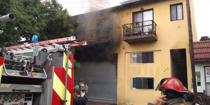 Se incendi� un domicilio en Quilmes Este por un posible cortocircuito