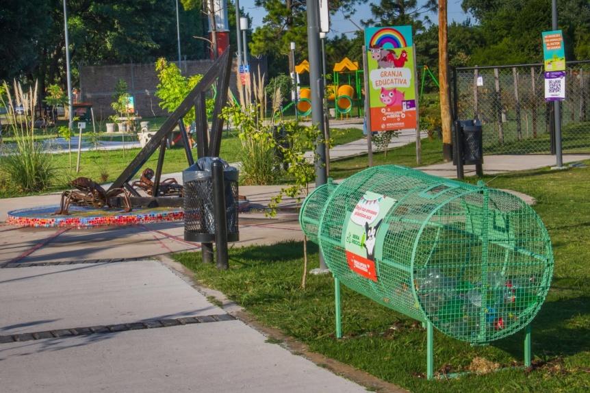 En Berazategui suman espacios para llevar residuos reciclables