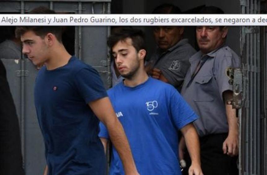 Los dos rugbiers excarcelados se negaron a declarar