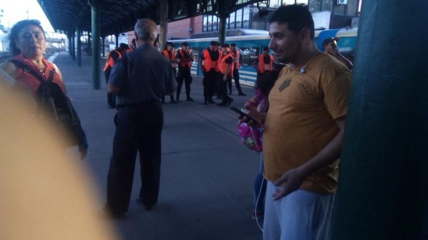 Amenaza de bomba en la estación Constitución