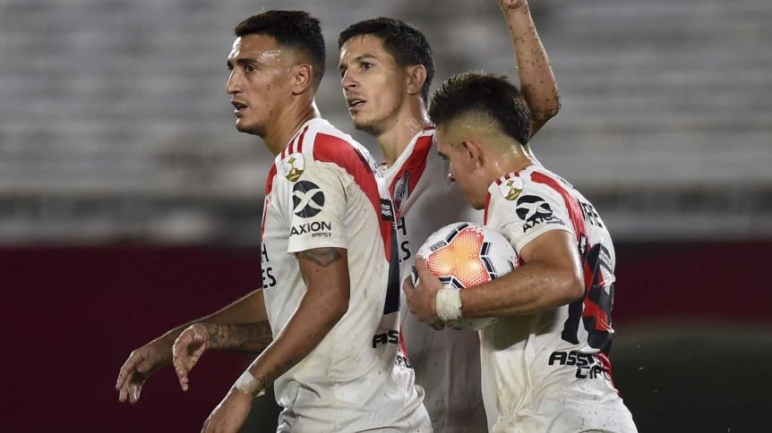 River goleó 8-0 a Binacional de Perú y volvió a la senda del triunfo