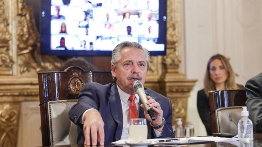 """Alberto Fernández: """"Lo que no entra con la razón, va a entrar con la fuerza"""""""