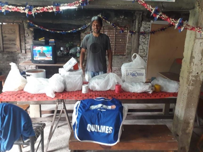 Fábrica de pastas donó 80 kilos de mercadería a comedores barriales