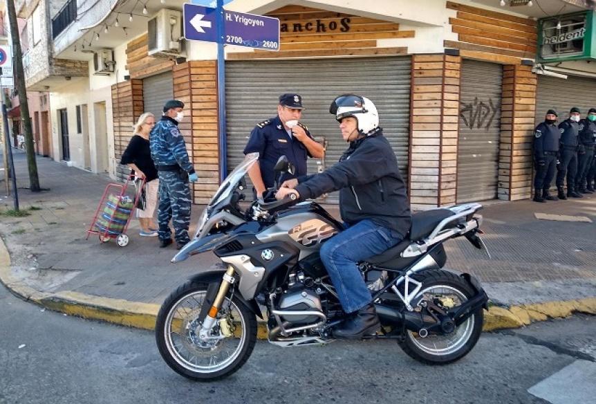 Berni supervis� los controles policiales en zonas bancarias de La Matanza