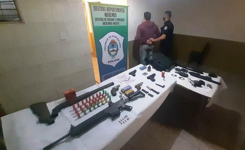 Cay� sujeto que proveer�a armas a delincuentes en Quilmes Oeste