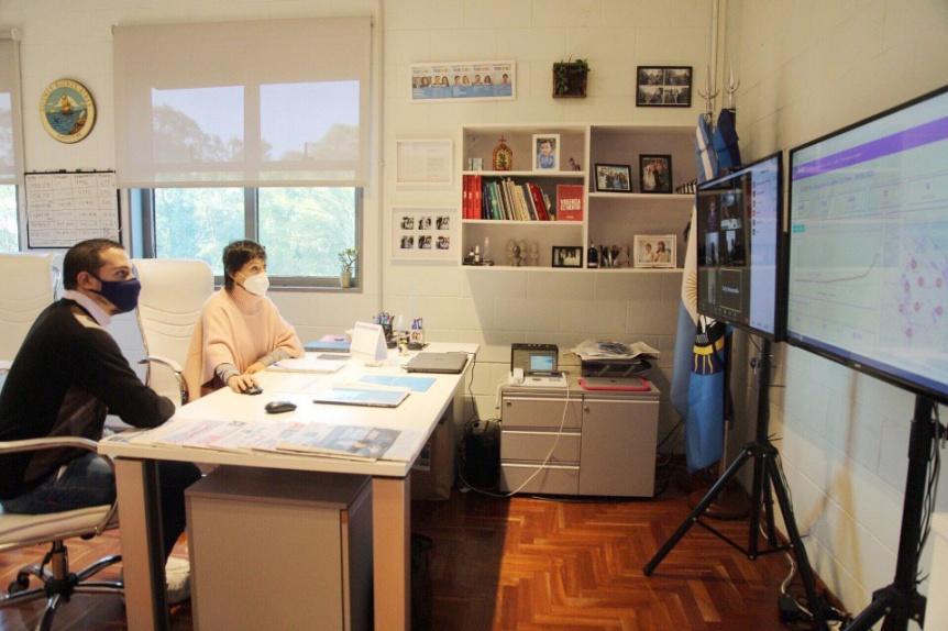 Mayra Mendoza mantuvo una videoconferencia con pastores de Quilmes