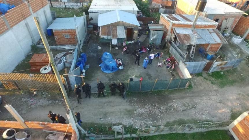 """Desbarataron la banda narco del """"Guarani Piki"""" distribuida en villas de Quilmes"""