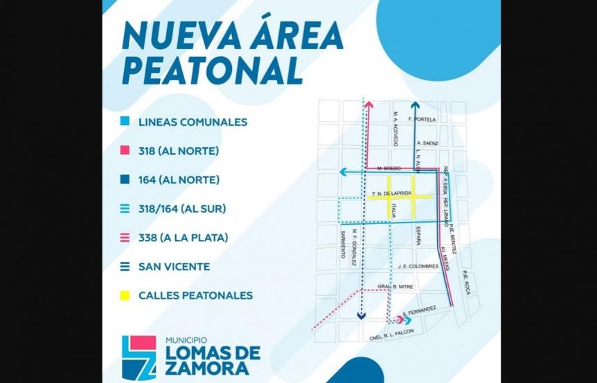 La municipalidad de Lomas de Zamora genera una nueva �rea peatonal