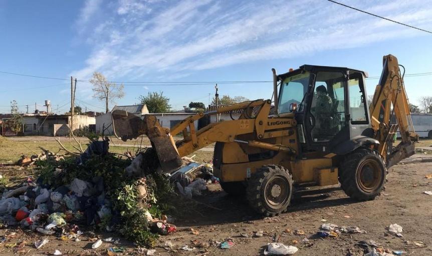 Nuevos trabajos de limpieza y mantenimiento integral en Quilmes