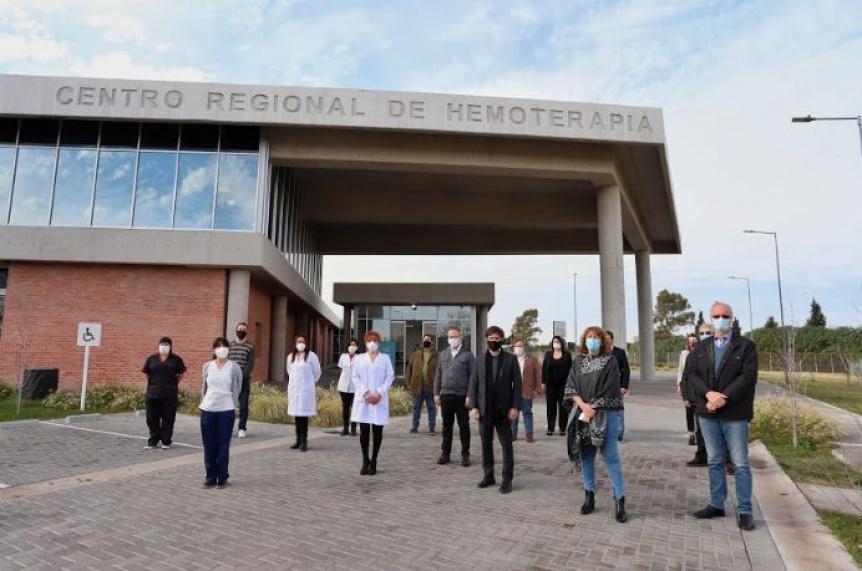 Kicillof participó de la inauguración del Centro Regional de Hemoterapia