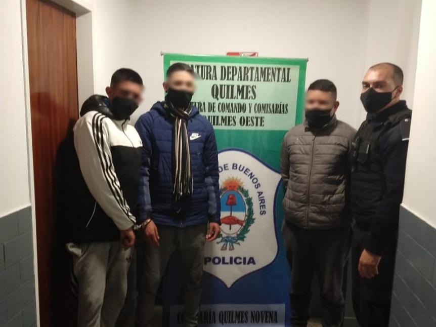 Persecución y cerrojo policial terminó con la detención de una banda de asaltantes