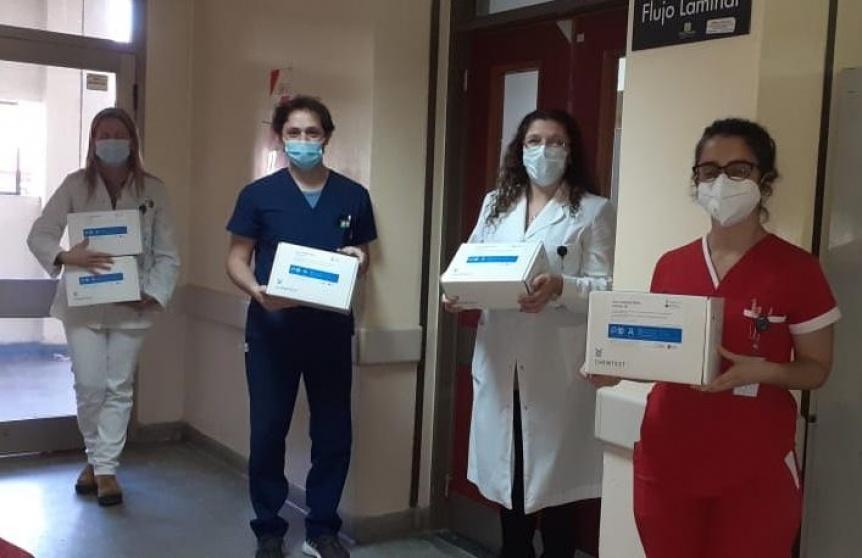 Hospitales públicos cuentan con los test de diagnóstico rápido de coronavirus